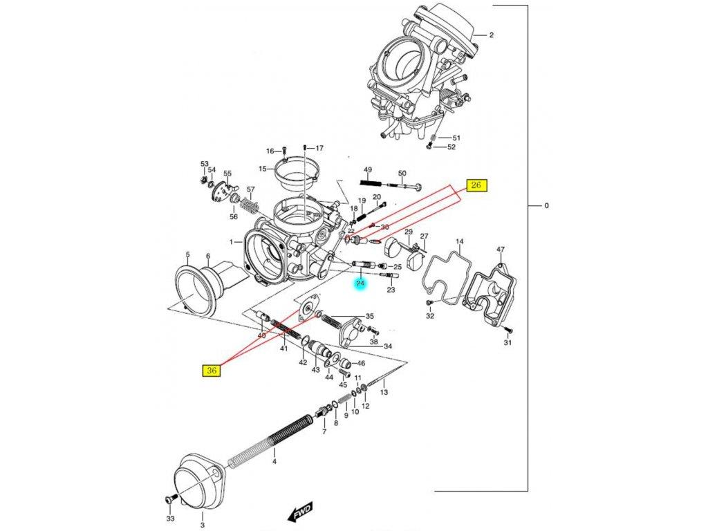[24] Držák hlavní trysky (FIG10) - Hyosung GT 650 N