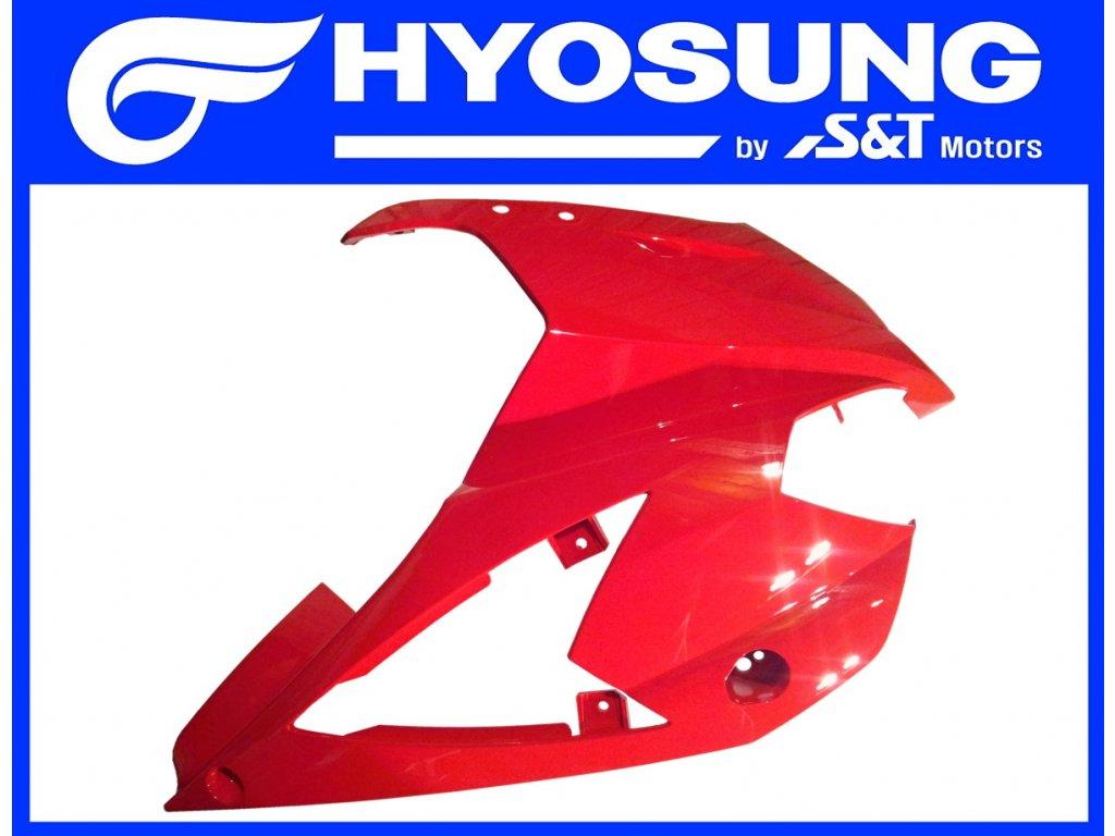 [3] Kapota přední pravá / červená (kapotáž přední horní) - Hyosung GT 650 S & R