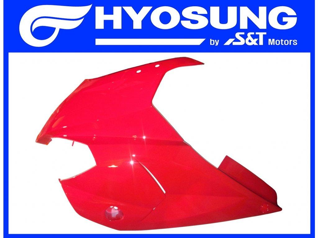 [4] Kapota přední levá / červená (kapotáž přední horní) - Hyosung GT 650 S & R