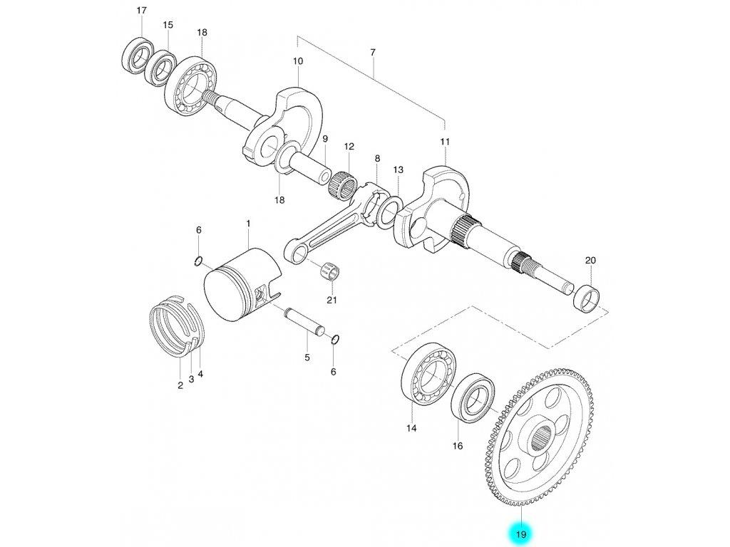 [19] Ozubené kolo (FIG04) - Hyosung SB 50 M (CAB)