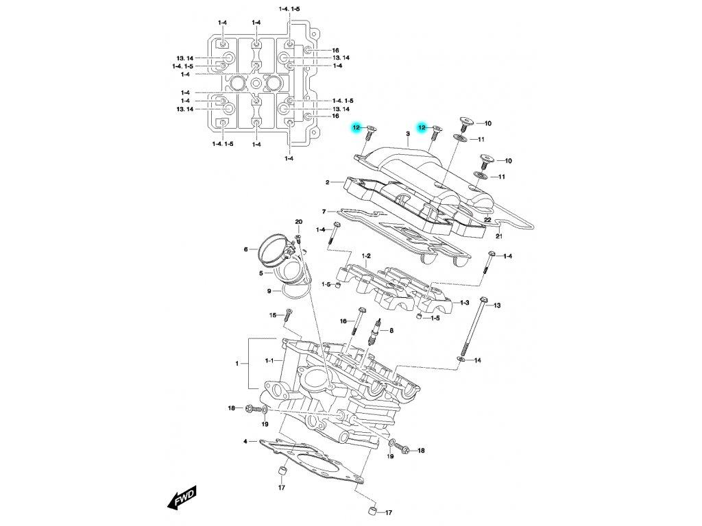 [12] Šroub (FIG01h) - Hyosung GV 650