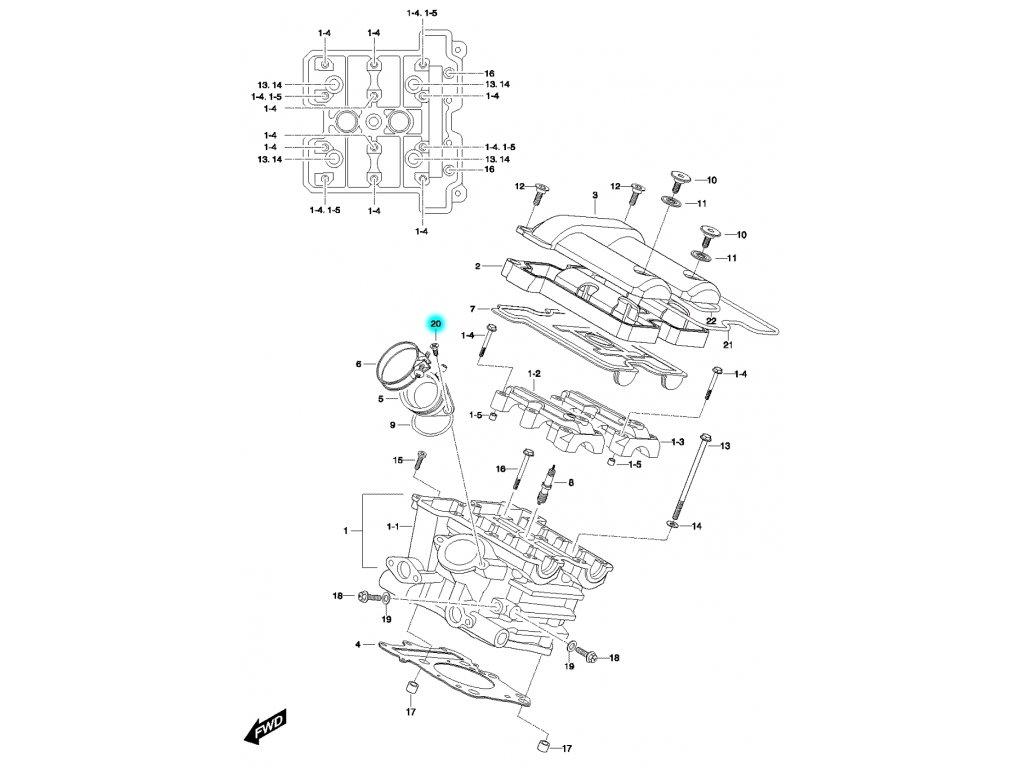 [20] Šroub (FIG01h) - Hyosung GV 650
