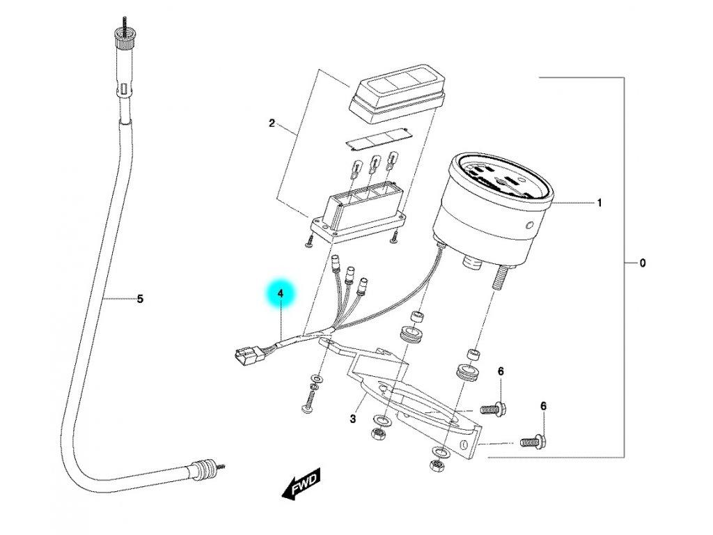 [4] Kabelové rozvody (tachometr) - Hyosung SF 50 R (RALLY)