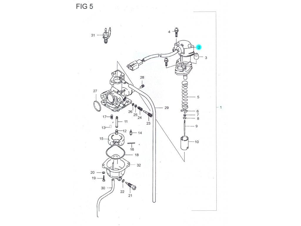 [2] Elektronický sytič (FIG05) - Hyosung SB 50 (RUSCH)