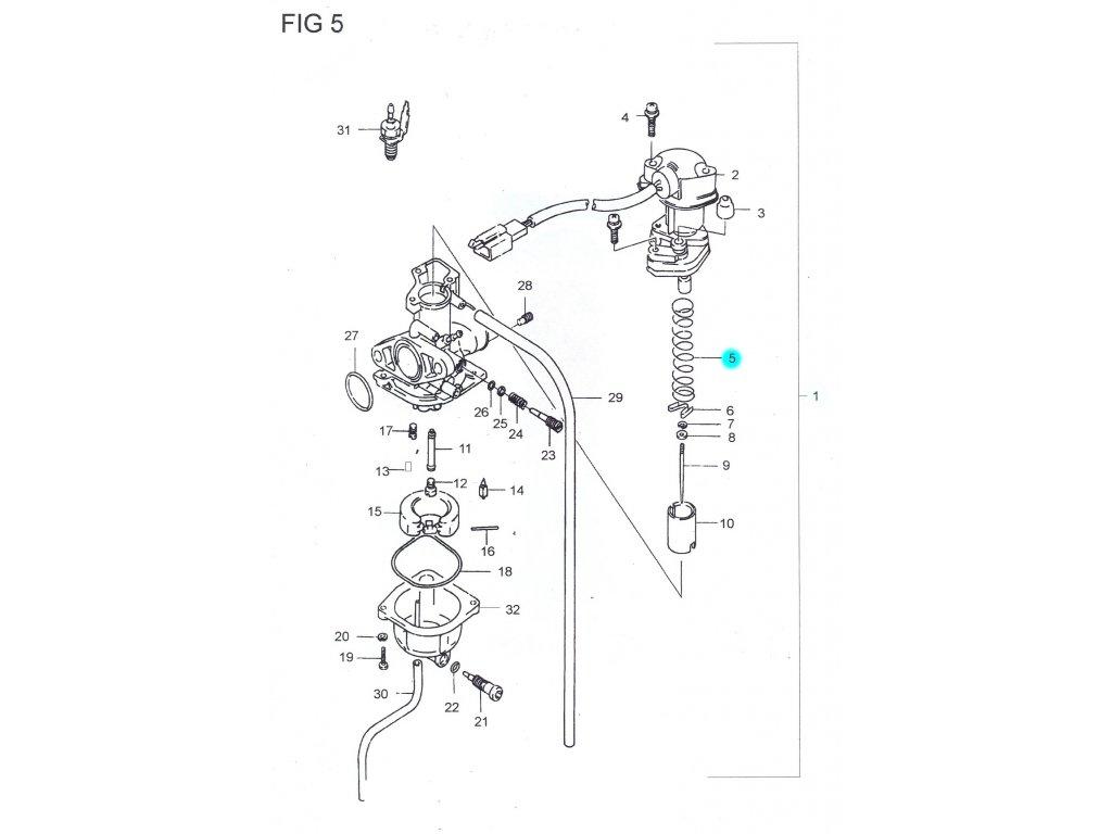 [5] Pružina (FIG05) - Hyosung SB 50 (RUSCH)