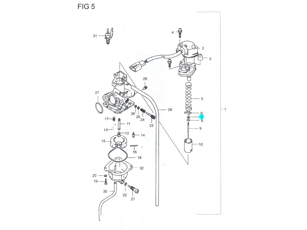 [7] E-kroužek (FIG05) - Hyosung SB 50 (RUSCH)