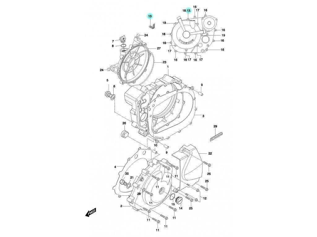 [13] Úchytka (FIG05) - Hyosung GT 650 N