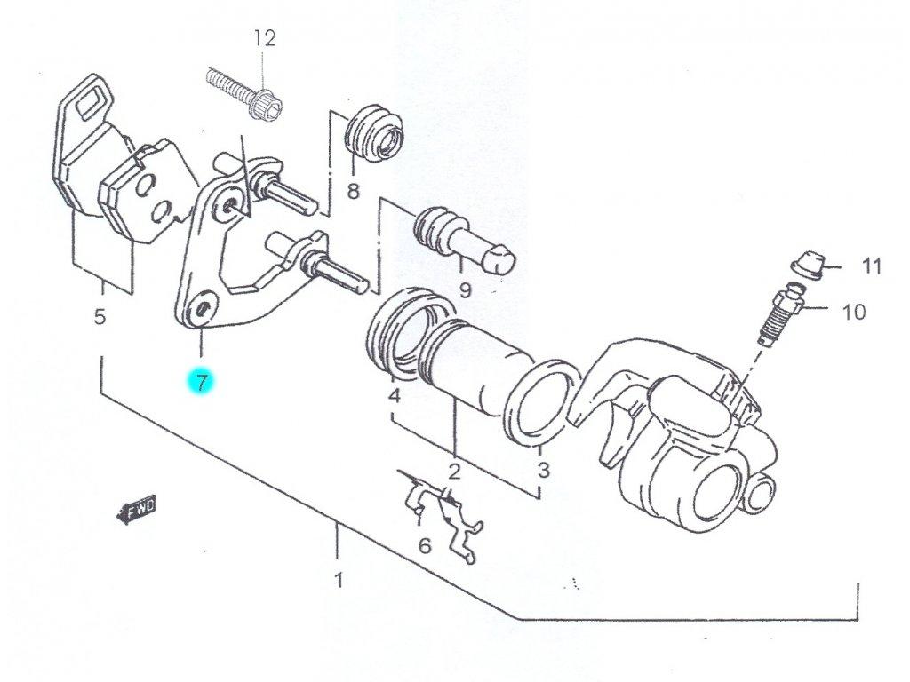 [7] Držák brzdového třmenu (FIG35) - Hyosung SB 50 (RUSCH)