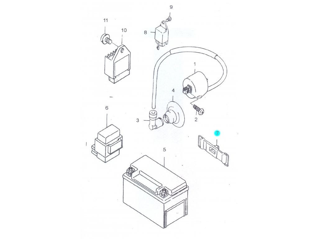 [7] Gumový řemen (elektrické jednotky) - Hyosung SB 50 (RUSCH) 1995 - 1996
