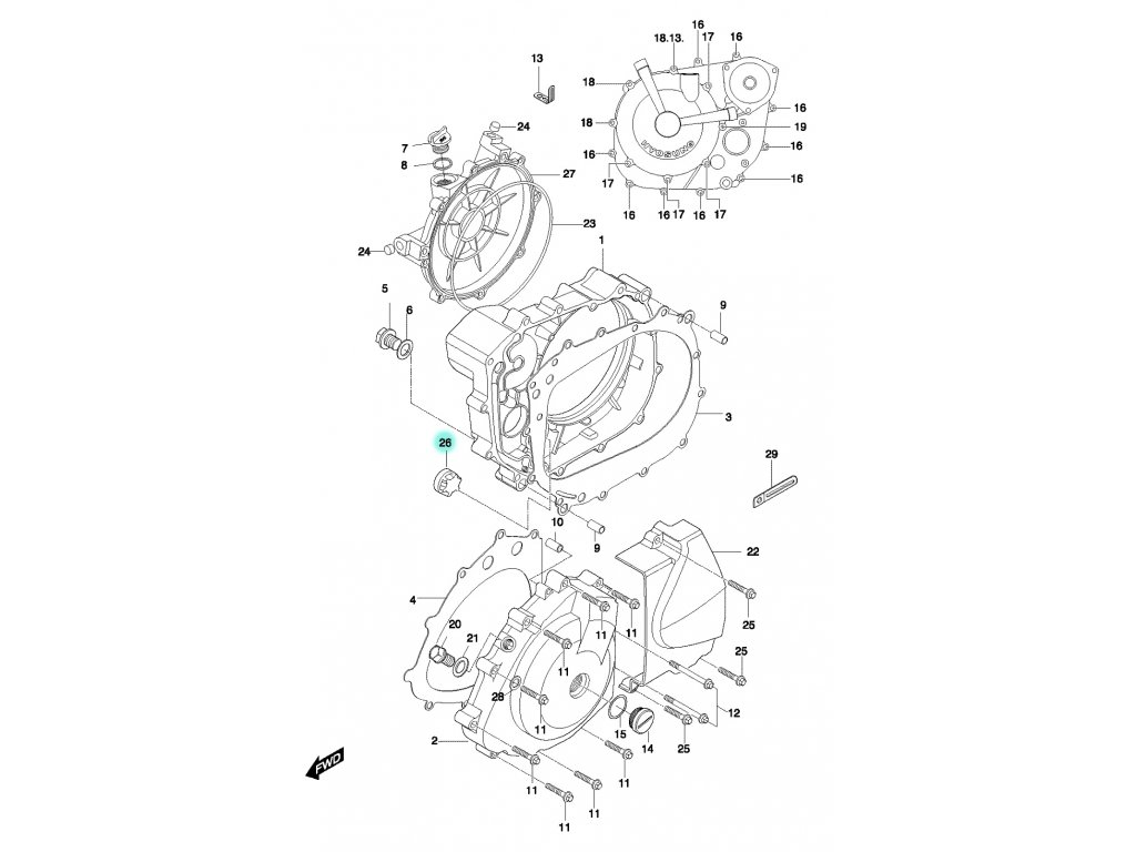 [26] Kontrolní čočka hladiny oleje (FIG05) - Hyosung GT 650 N
