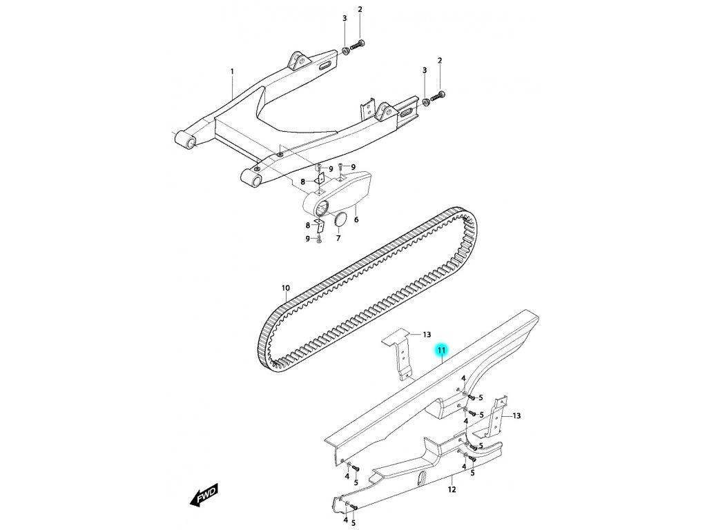 [11] Horní kryt řemenu (FIG48) - Hyosung GV 650