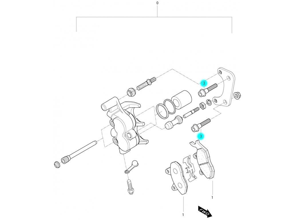 [3] Šroub (FIG44) - Hyosung MS3 250i