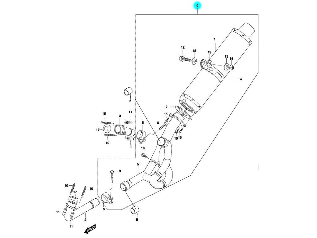 [0] Výfuk kompletní (výfuk) - Hyosung GT 650 N