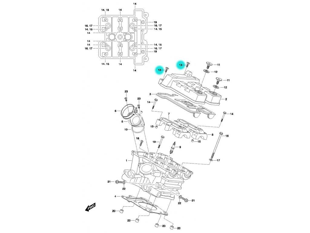 [13] Šroub (FIG01h) - Hyosung GT 650 N