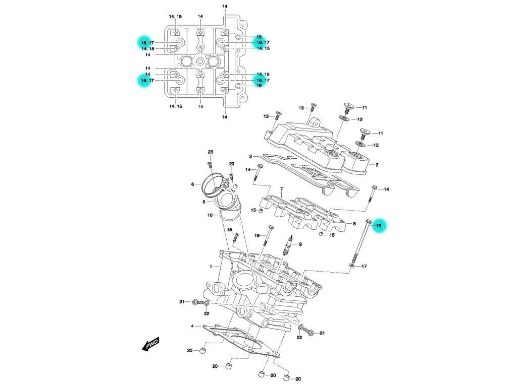 [16] Šroub (FIG01h) - Hyosung GT 650 N