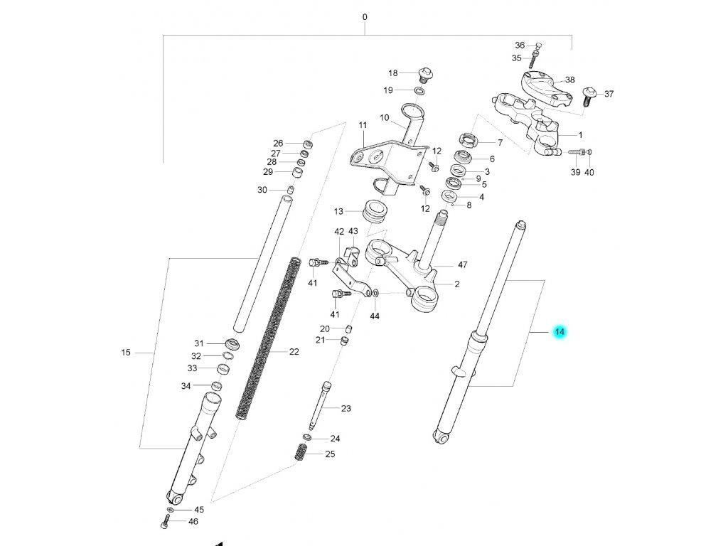 [14] Tlumič přední levý (FIG35) - Hyosung GF 125