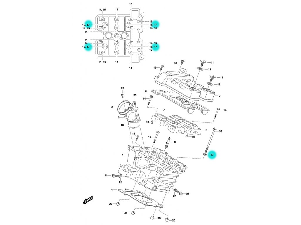 [17] Podložka (FIG01h) - Hyosung GT 650 N