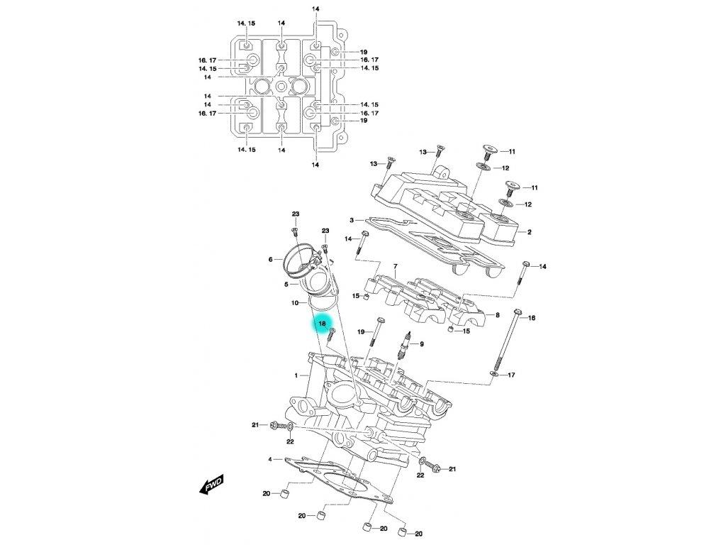 [18] Šroub (FIG01h) - Hyosung GT 650 N