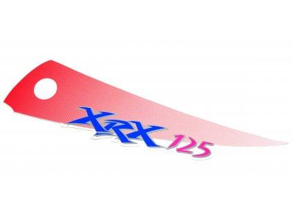 [12] Samolepa RX125 červená / pravá (FIG34) - Hyosung RX 125