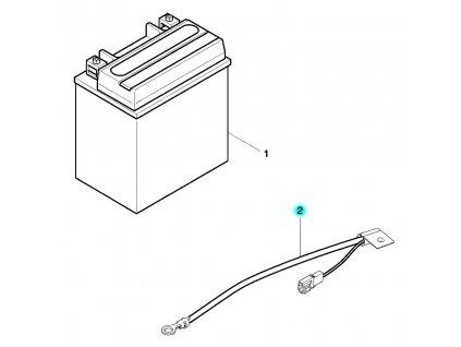 [2] Elektrický kabel (baterie) - Hyosung GV 650