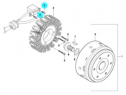 [4] Šroub (alternátor) - Hyosung GT 650 N
