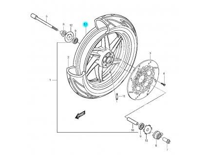 [1-1] Kolo zadní (FIG37) - Hyosung GT 125 N