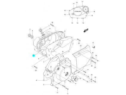 [1] Boční kryt motoru (FIG05) - Hyosung GT 125 N