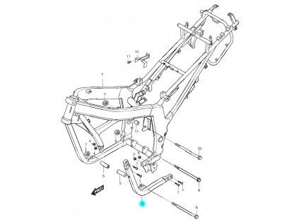 """[2] Trubkový rám """"L"""" odnímatelný (rám) - Hyosung GT 125 N"""