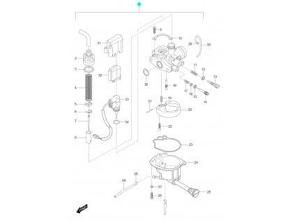 [1/b] Karburátor kompletní (FIG05) - Hyosung SD 50 Sense