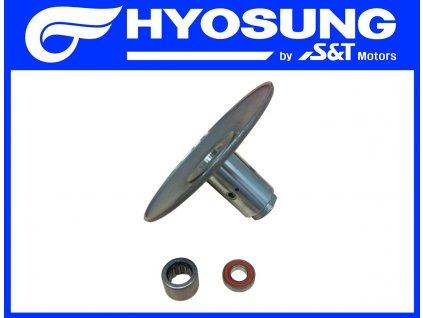 [1] Řemenice zadní pevná (převodovka a odstředivá spojka) - Hyosung GPS 125 Hyper / Grand Prix
