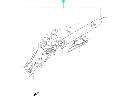 [1] Výfuk kompletní (FIG12) - Hyosung GV 250i