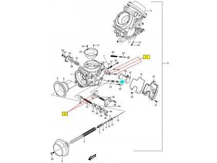 [25] Tryska hlavní 127,5 (karburátor) - Hyosung GT 650 N