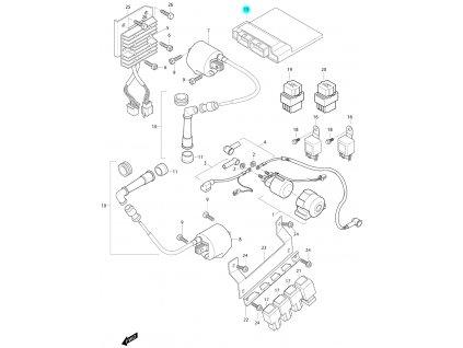 [15] Řídící jednotka ECU (FIG24) - Hyosung GV 650 Fi & LE30