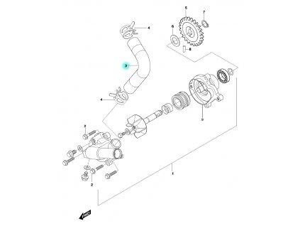 [3] Hadice (vodní čerpadlo) - Hyosung GT 650 N