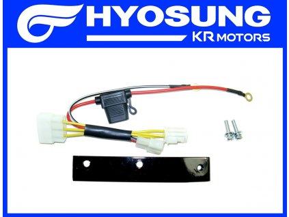 [5] Držák regulátoru včetně kabelového zapojení (nová verze) (elektrické jednotky) - Hyosung RX 125