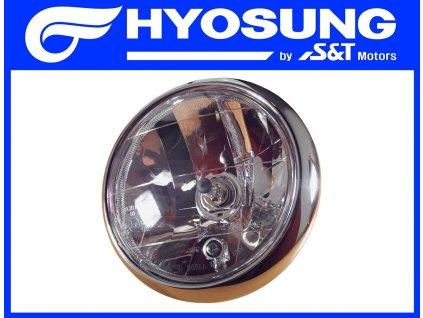 [1] Světlomet kompletní (přední světlomet) - Hyosung GV 250i D (FI Delphi)