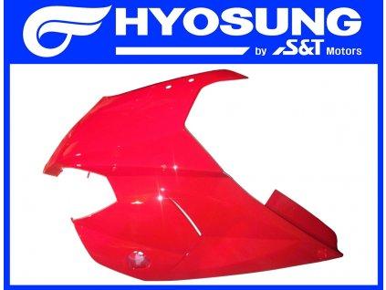 [4] Kapota přední levá / červená (kapotáž přední horní) - Hyosung GT 650 R TTC