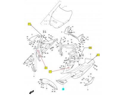 [8] Přívod vzduchu levý (FIG36) - Hyosung GT 650 R TTC