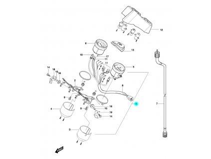 [1] Tachometr kompletní (FIG25) - Hyosung GT 650 N