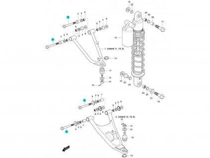 [3] Šroub (FIG47) - Hyosung 450 Sport