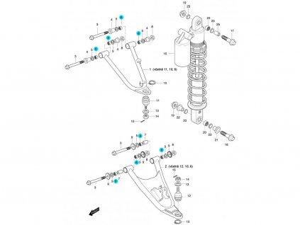 [6] Ložisko (FIG47) - Hyosung 450 Sport