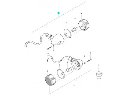 [1] Blinkr pravý zadní kompletní (FIG24) - Hyosung GV 125 M E3