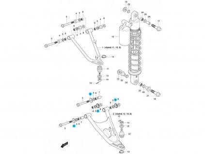 [9] Podložka těsnící (FIG47) - Hyosung 450 Sport
