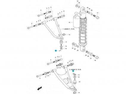 [15] Závlačka pojistná (FIG47) - Hyosung 450 Sport