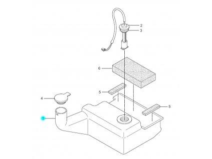 [1] Nádrž (olejová nádrž) - Hyosung SF 50 (PRIMA)