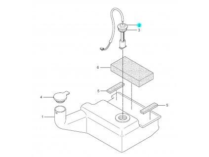 [2] Snímač hladiny (olejová nádrž) - Hyosung SF 50 (PRIMA)