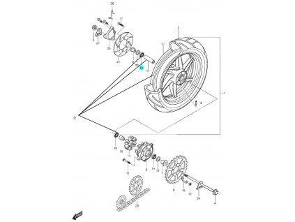 [19] Ložisko (FIG46) - Hyosung GT 125 N