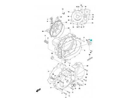 [32] Destička jistící (FIG05) - Hyosung GT 650 N