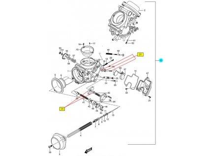 [0] Karburátory kompletní / 2 kusy sada (FIG10) - Hyosung GT 650 N