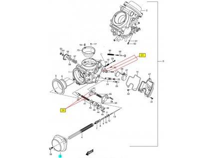 [3] Kryt (karburátor) - Hyosung GT 650 N